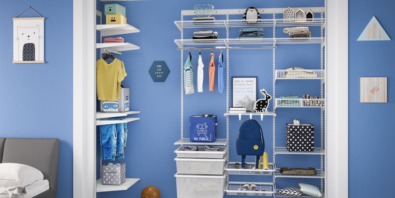 Варіант готового дитячого гардеробу у білому металі