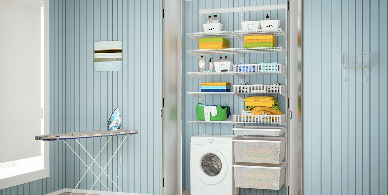 Компактна система зберігання для ванної кімнати