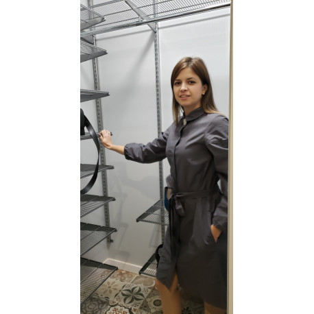Гардеробна система у сірому металі